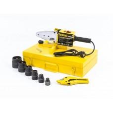 Аппарат для сварки пластиковых труб DWP-1500, 1500Вт, 260-300 град. компл насадок,20-63 мм// DENZEL 94205