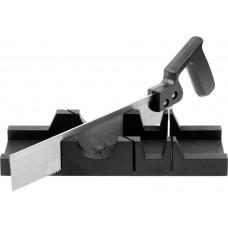 Набор DEXX: Стусло пластмассовое + пила для стусла, для заготовок до 65х35мм, ножовка 300мм DEXX 1538-30