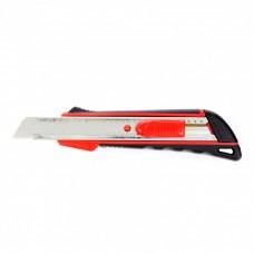 Нож 18 мм выдвижное лезвие,  метал. направляющая,  эргоном. двухкомпонентная рукоятка//MATRIX 78933