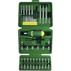 Набор KRAFTOOL Отвертка реверсивная с битами и торцовыми головками, 50 предметов  25556-H50