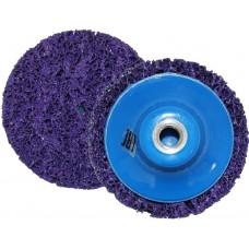 Круг для снятия ржавчины на резьбе синий Д= 100 мм М14 Русский Мастер РМ-90474