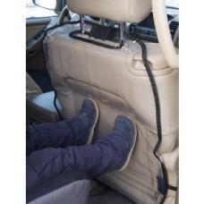Защита спинки сиденья от грязных ног ребенка 74х46см ПВХ 250мкм черно-прозрачная AutoBra 5105