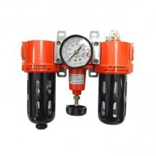 """Блок подготовки воздуха  (фильтр 5Мк + регулятор + маслодобавитель) 1/2"""" (0-10bar) Forsage SG-700-12(Forsage)"""
