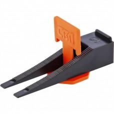 Система выравнивания плитки СВП. Комплект - зажим + клин 40/40 шт. (пакет ПЭНД)// СИБРТЕХ 88060