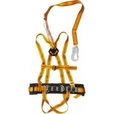 Привязь страховочная (Пояс лямочный) СИБИН тип ППДаА, материал стропа - лента, с наплечными и набедренными лямками 11563