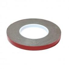 Лента клейкая пеноакриловая двусторонняя 9мм*5м серая 0,8мм (серый скотч) блистер ,HOLEX HAS-78743
