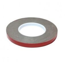 Лента клейкая пеноакриловая двусторонняя 12мм*5м серая 0,8мм (серый скотч) блистер,HOLEX HAS-78750