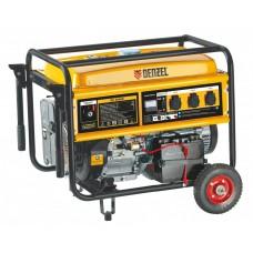 Генератор бензиновый GE 8900E, 8,5 кВт, 220В/50Гц, 25 л, электростартер// DENZEL 94686