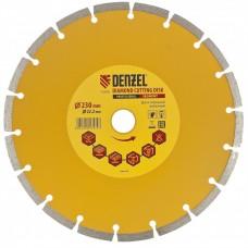 Диск алмазный отрезной 230 х 22,2 мм, сегментный, сухая резка// DENZEL 73104