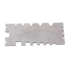 Шаблон для заточки резьбовых резцов для метрической и дюймовой резьбы