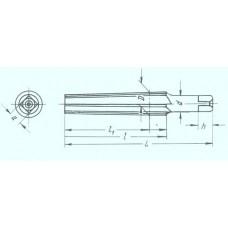 Развертка 13,0*80*120 коническая, конусность 1:30 с прямой канавкой (шт) 12494