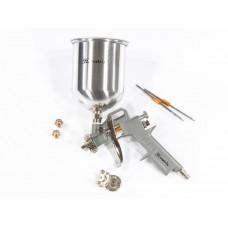Краскораспылитель пневмат. с верхним бачком V=1,0 л + сопла диаметром 1.2, 1.5 и 1.8 мм// MATRIX 57315