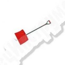 Лопата снеговая 500*410 , d-35 пласт. с алюм.нак