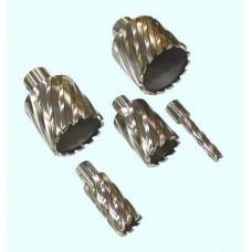 Сверло 12*50мм корончатое кольцевое Р6АМ5 хвостовик Weldon 19мм по металлу (без выталкивателя)