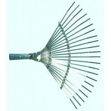 Грабли металлические веерные б/черенка, пластинчатые 380мм