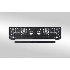 Рамка для номерного знака AB-003B BLACK со сплошной подсветкой /1/25 AB-003B